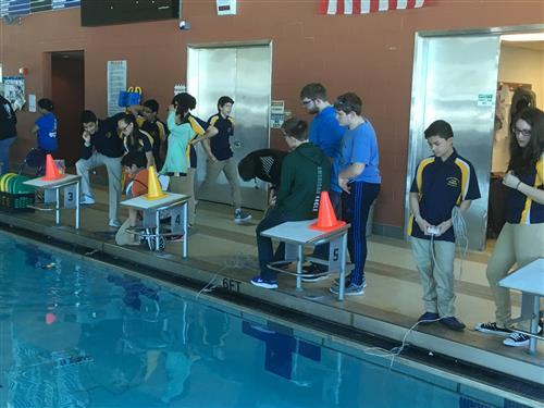 Technology Students Make a Splash at Robotics Event