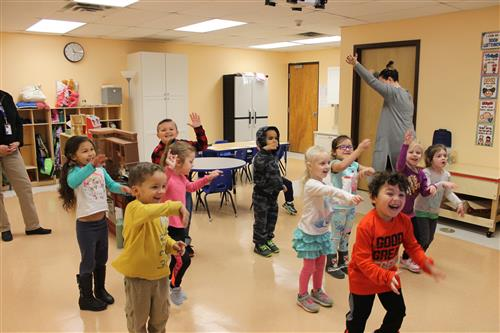 PreK students dance