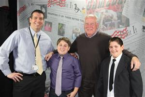 Mr. Eymann and Mr. Dieckmann with JPI TV Reporters.