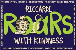 Riccardi Roars with Kindness banner